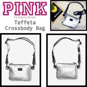 NWT Pink VS Taffeta Crossbody Bag, Silver